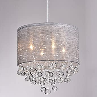 CLAXY Ecopower Lighting Metal & Crystal Pendant Lighting Modern ...