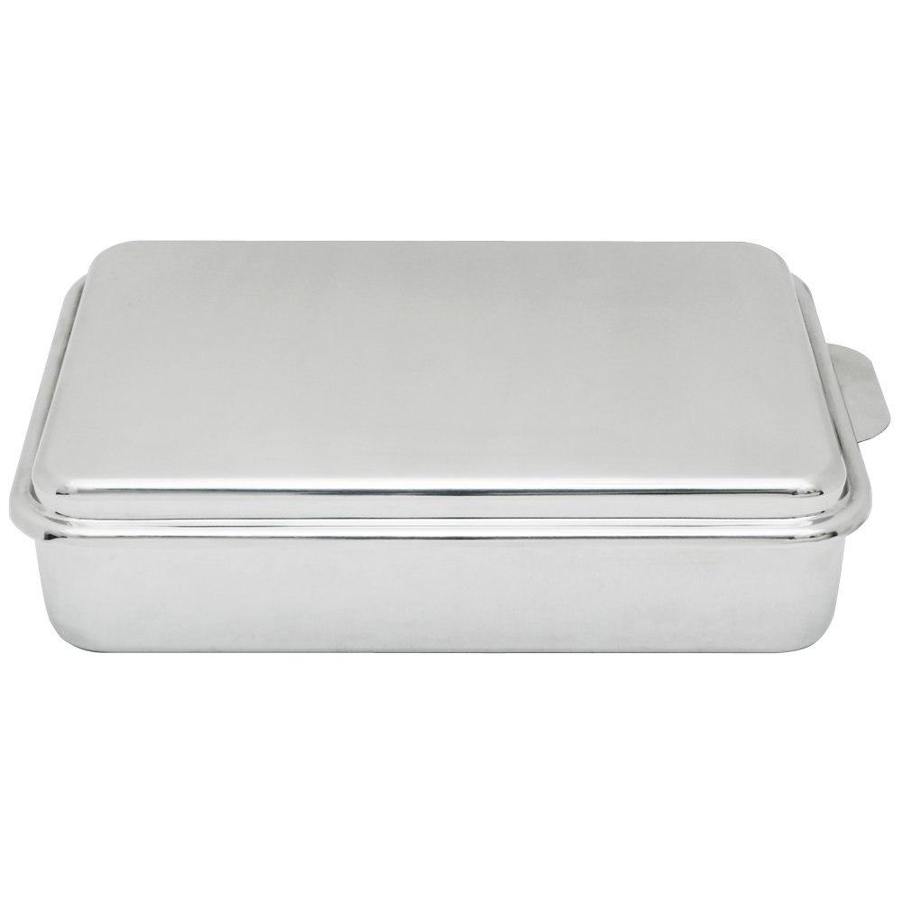 Lindy's Stainless Steel 9 X 13 Inches Covered Cake Pan, Silver by Lindy's