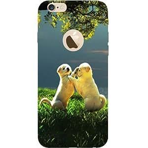 casotec cachorro pareja Play Kids naturaleza diseño Hard back Case Cover for iPhone 6/6S