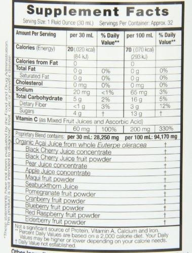 Dynamic Health Acai Plus Superfruit Antioxidant Supplement Juice Blend 32-Ounces Pack of 2 Discount