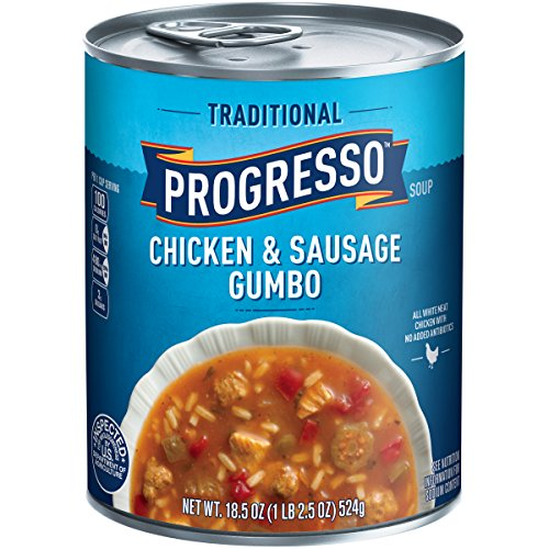 Progresso Soup, Traditional, Chicken & Sausage Gumbo Soup, 18.5 - Soup Canned