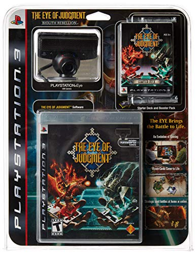 - Eye of Judgment Bundle with Game, PS3 Eye, Camera Stand, Starter Deck, Booster Pack and Battle Mat