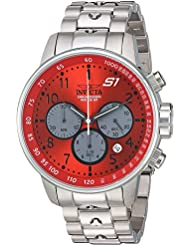 Invicta Mens S1 Rally Quartz Stainless Steel Casual Watch, Color:Silver-Toned (Model: 23086)