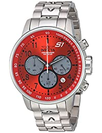 Invicta Men's 'S1 Rally' Quartz Stainless Steel Casual Watch, Color:Silver-Toned (Model: 23086)