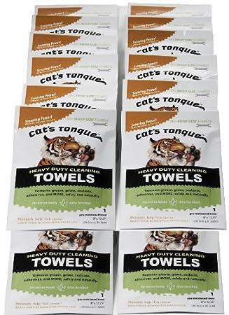 La lengua de gato Heavy Duty toallas de toallitas de limpieza desengrasante/desengrasante - 25-pack grab-N-Go bolsas: Amazon.es: Deportes y aire libre