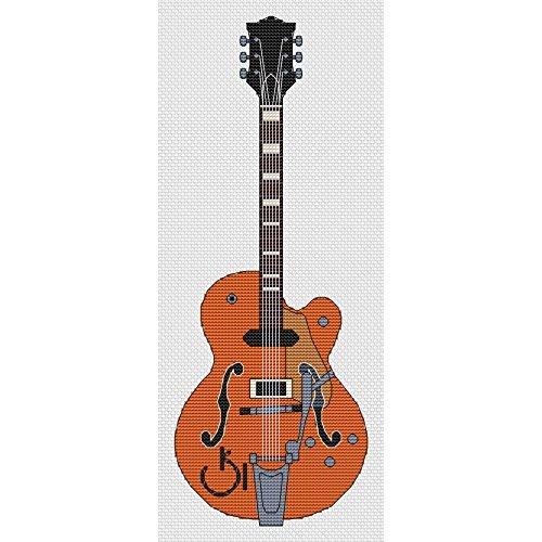 GRETSCH guitarra Kit de punto de cruz por Elite diseños: Amazon.es ...