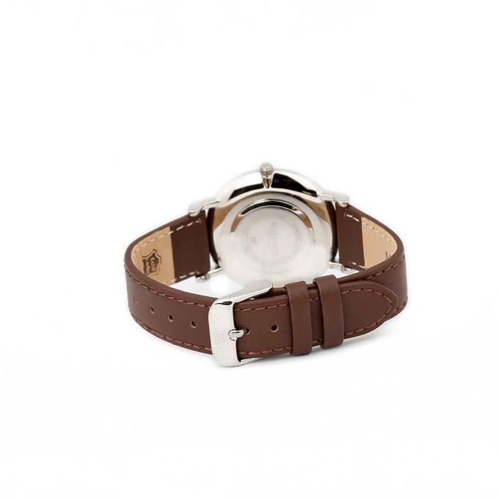 New Madison Uhr Avenue Leder Armbanduhr York Damen L4741e OkiuwPZTX
