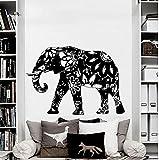 vsgraphics llc - Wall Decal Elephant Vinyl Sticker Decals Home Decor Murals Indian Elephant Floral Patterns Mandala Tribal Buddha Ganesh Bedroom Dorm OS39