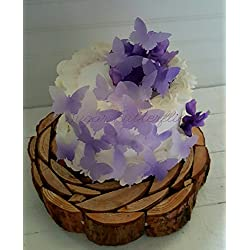 Edible Butterfly Violet Swallowtail Cake Decorations Cupcake Toppers Set of 18