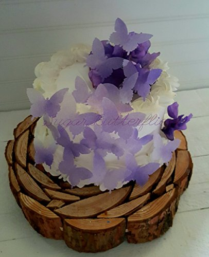 Edible Butterfly Violet Swallowtail Cake Decorations Cupc...