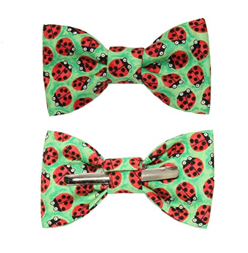 Toddler Boy 4T 5T Ladybugs Clip On Cotton Bow Tie Bowtie by amy2004marie