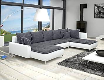 Dante - Sofá de esquina panorámico con forma de U, gris ...