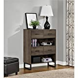 Ameriwood Home 9665096COM Candon Bookcase Bins, Distressed Brown Oak