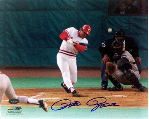 "Pete Rose Cincinnati Reds Hit 4192 Autographed 8"" x 10"" Photograph - Fanatics Authentic Certified - Autographed MLB Photos"