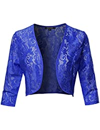 Women's Stretch 3/4 Gathered Sleeve Open Blazer Jacket...
