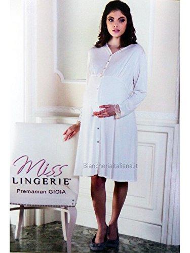 design di qualità f98f9 36c67 MISS LINGERIE Camicia da Notte Premaman Donna Gioia Aperta ...