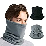 CUIMEI Fleece Neck Warmer Gaiter (3 Pack / 2 Pack / 1 Pack) - Windproof Face Mask for Men & Women for Outdoor Ski Running Cycling Motorcycle in Cold Weather Winter