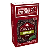 Old Spice Fresher Collection Timber Scent Men's Bar Soap, 6-Bar/5-Ounce, 850.49-Gram
