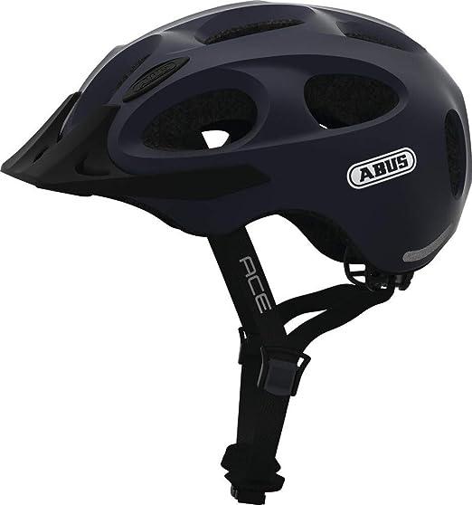 ABUS Youn-I Ace Casco de Bicicleta, Unisex Adulto, Azul Metalizado ...