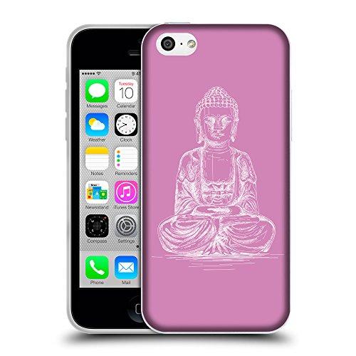 GoGoMobile Coque de Protection TPU Silicone Case pour // Q10010618 Bouddha assis 12 Bronze // Apple iPhone 5C