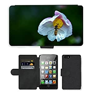 Hot Style Cell Phone Card Slot PU Leather Wallet Case // M00110893 Wasp Insect Bug Wing Wildlife // Apple iPhone 4 4S 4G