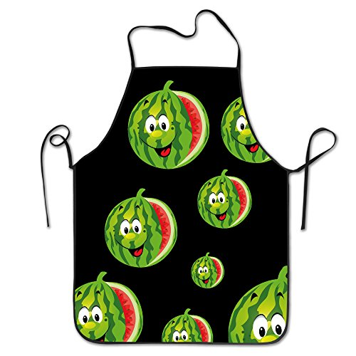 [HELEN.KOCO Watermelon Adjustable Neck Bib Apron With 2 Pockets - Adjustable Neck Strap] (Eiffel Tower 3 Person Costume)