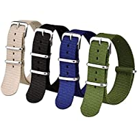 Ritche 16mm 18mm 20mm 22mm 24mm NATO Watch Straps,Nylon Replacement Men Women Bands