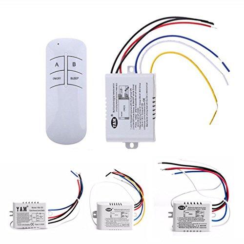 1/2/3 vías inalámbrico ON/OFF lámpara mando a distancia interruptor receptor transmisor 220 V: Amazon.es: Bricolaje y herramientas