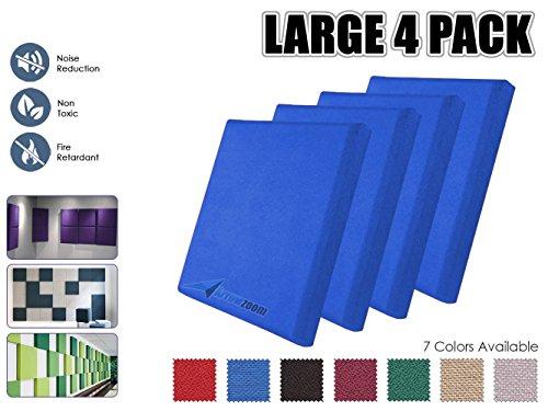 Arrowzoom AZ1152 - Paneles acústicos de tela absorbente de sonido, Azul, 4 Pieces