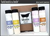 Cleansing Oil U Star - 'Bath Bomb In A Bottle' Shea Butter Bath Salt Fizz 4-Pack Gift Set - Lush, Nourishing, Natural, Moisturizing and Detoxing. Contains (4) Bath Salt Fizz Tubes. Great & Unique Gift. HANDMADE IN USA