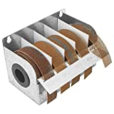 Steel Sandpaper Roll Dispenser with 5 Turners Mesh Abrasive 1'' x 20' Rolls Ideal for Wood Turners, Furniture Restoration, Automotive, Home, Workshop and General Use