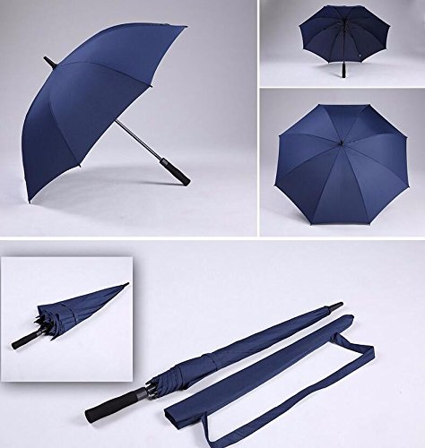 Yellow Single Jogging Stroller (OLQMY-Long handle oversized men's automatic double umbrellas customized business students bar umbrella female strengthening wind resistance,Single dark blue)