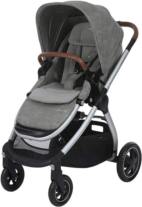 Opinión sobre Maxi-Cosi 1310712110 Adorra Carrito bebé recién nacido hasta 3.5 años, cochecito plegable y reclinable en posición acostada, hamaca acolchada e gran cestilla de compra, color nomad grey