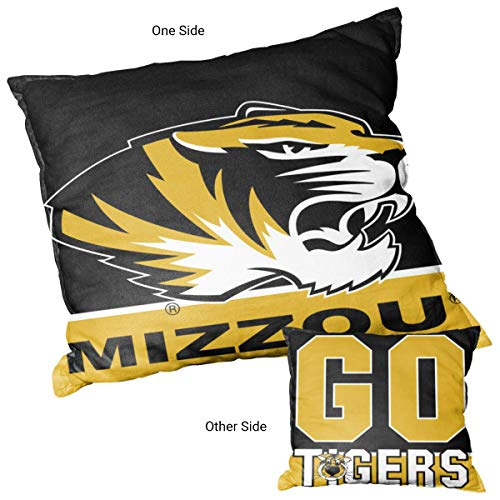College Flags and Banners Co. Missouri Tigers Go Tigers Logo Pillow