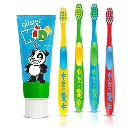 """Glister Kids Pasta de dientes y cepillo de dientes """"Happy ..."""