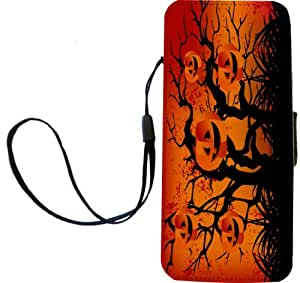 Rikki KnightTM Happy Halloween Evil Forest Design iPhone Apple 5c PU Leather Wallet Type Flip Case with Magnetic Flap and Wristlet for Apple iPhone 5c