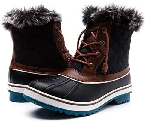 Global Win GLOBALWIN Women's 1632 Black Grey Snow Boots