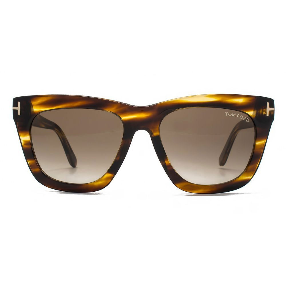Tom Ford Designer Sunglasses, Dark Brown/Gradient Brown, 55-18-140 by Tom Ford