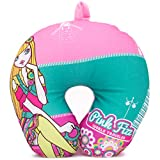 Pink Fizz Girls Extra Soft Stylish Micro Beads Neck Pillow, Micro Beads for Supportive Comfort, Barbie Style Glamorous Design Travel Pillow (Blonde Girl)