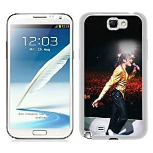 Beautiful And Unique Designed Case For Samsung Galaxy Note 2 N7100 With Michael Jackson Moonwalk white Phone Case