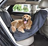 Pet Seat Covers Waterproof Hammock Style Dog Car Back Seat Cushion for Trucks SUV Van Auto Vehicles Black Review