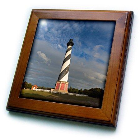 3D Rose North Carolina - Cape Hatteras Lighthouse Framed Tile 8