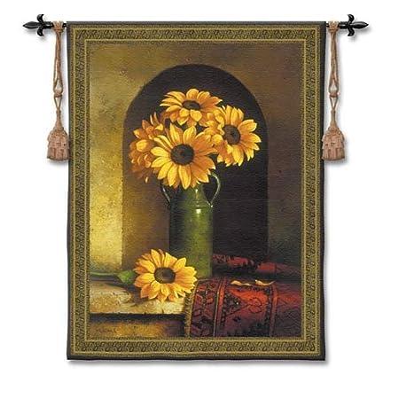 Art Tapestries - sunflower floral home wall art decor
