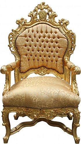 casa padrino barock luxus thron sessel gold muster gold barock mobel thron konigssessel