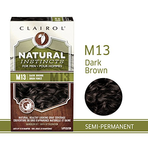 Clairol Natural Instincts Semi-Permanent Hair Color Kit For Men, 3 Pack, M13 Dark Brown Color, Ammonia Free, Long Lasting for 28 Shampoos by Clairol (Image #5)