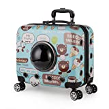 Small Pet Fashion Dogs Stroller Crate Dog Cat Carrier Travel Tote Trolley Bagsbubble Window Small Dog Carrier Crate Outdoor Travel Bag