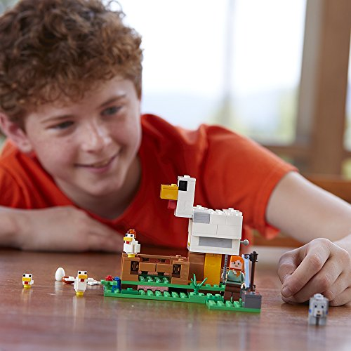 51cvkxqyBFL - LEGO Minecraft The Chicken Coop 21140 Building Kit (198 Pieces)