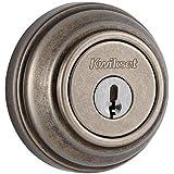 Kwikset 980 Single Cylinder Deadbolt featuring SmartKey® in Rustic Pewter by Kwikset