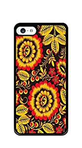 Hard Case Back Custom PC iphone 5c case for teen girls clear case - Retro dark pattern
