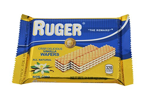 Chocolate Cream Wafers (Ruger Wafers Austrian Wafers, Vanilla, 2.125 Ounce (Pack of 12))